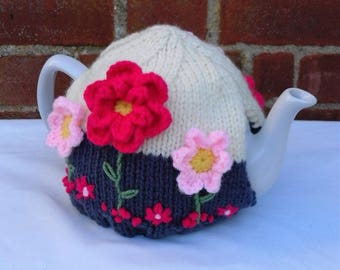 Hand Knitted Tea Cosy Medium 4-6 Cup
