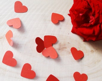 100 Red hearts confetti, Wedding decoration, Valentine's day decor, Bachelorette party, Wedding hearts, Engagement party