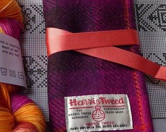 DPN, Circular Needle Roll in Harris Tweed