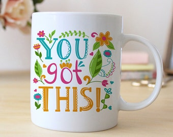 Motivational Coffee Mug - Inspirational Gift for her - Colorful Graduation Gift