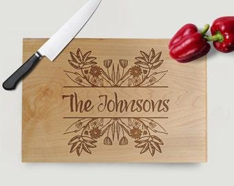 Floral Cutting Board - Flower Cutting Board