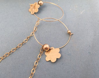 Sale!!Hoop earrings ,goldfield earrings ,delicate earrings .