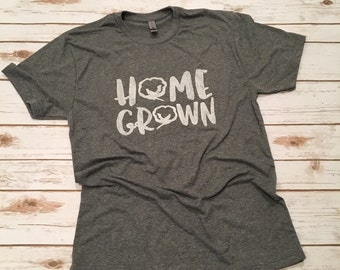 Home Grown tee with cotton