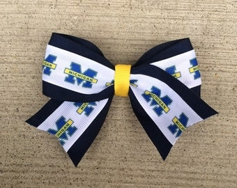 Michigan Wolverines Hair Bow