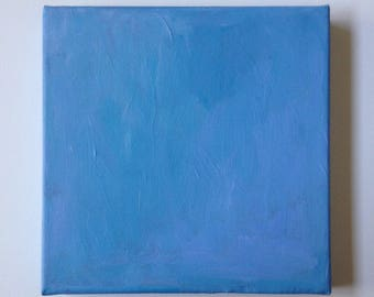 """Abstract, original, painting, Sky Blue - Elements - acrylic on canvas - 8"""" x 8"""" x 1 1/2"""""""