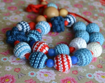 Marine teething necklace