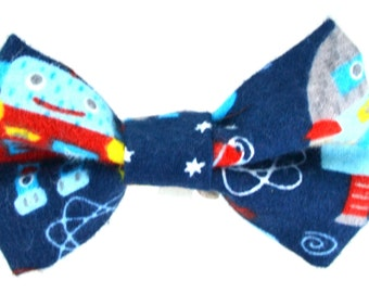Robot Fleece Bow Tie