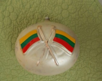 Lithuanian Christmas Ornament - Large Mercury Glass  (1739*)
