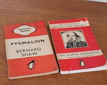X2 Vintage Peguine Books Bernard Shaw Shakespeare 1940s