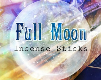 Vanilla Incense Sticks - Hand Dipped Incense - FULL MOON Incense - Twenty Incense Sticks - Scented Incense - Meditation Incense