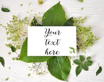 Leaves mockup, fresh styled stock photgraphy, styled photography, instagram photo, ref. 16063