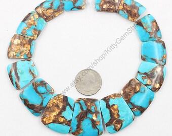 Graduated Slice Pendant Beads -- Slab Slice Gemstone Top Side Drilled Bead MHA-028,YHA-332