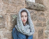 On Sale Infinity Cowl Scarf // Vegan Infinity Scarf // Oversize Loop Scarf // THE MADELEINE shown in Watercolors