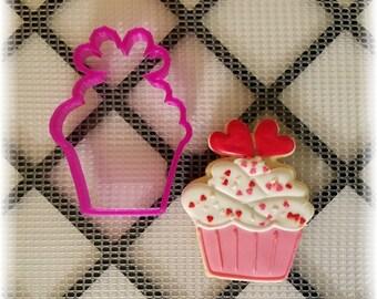Valentines Cupcake Cookie Cutter