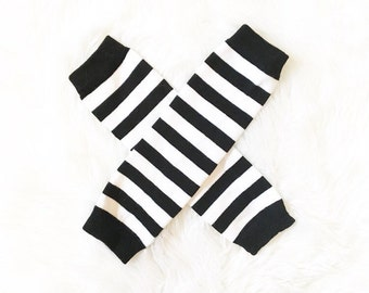 Baby clothes  striped leg warmers.