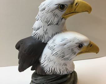 Two eagle heads