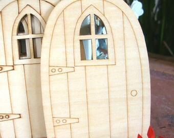 5 Wood Minature Fairy DIY Doors,Craft Doors