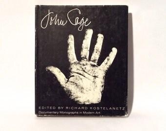 Vintage 1970 'John Cage' Hardcover Monograph/Praeger/By Richard Konstelanz/Conceptual Art Music/Collectible