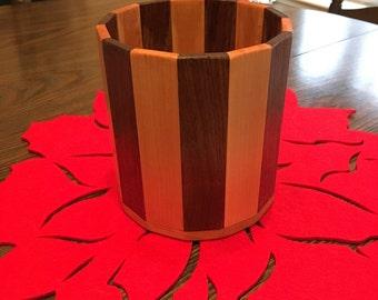 Wood Flower Pot