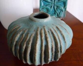Brutalist Weedpot Vase, Mid Century Modern, Artisan Pottery