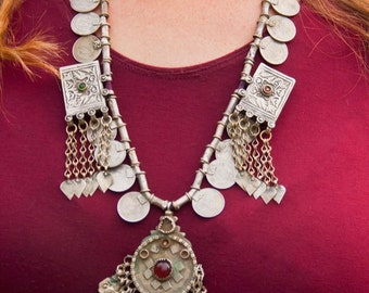 "Vintage Rajasthani ""Banjara"" Coin Necklace"