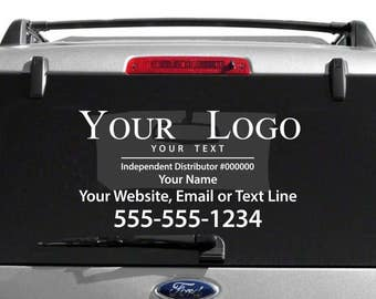 Your Logo Decal with Custom Name, Website, etc.