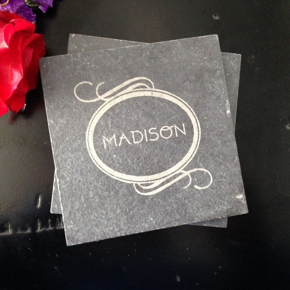 Personalized Slate Coasters - Realtor Closing Gift, Personalized Wedding Gift, Personalized Housewarming Gift