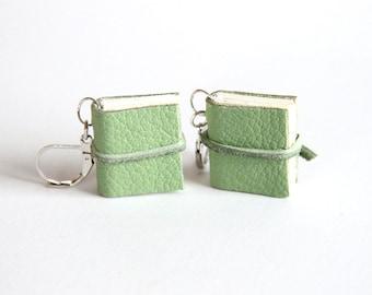 Mini Journal Earrings, Leather Book Earrings, Miniatures, Book Lover, Little Book, Small Notebook, Book Gift, Sketchbook, Earrings, Teacher