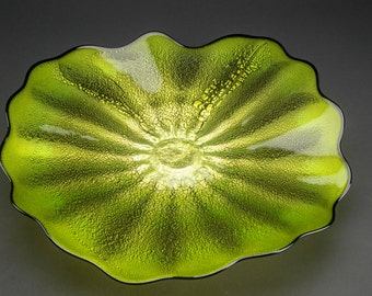 Blown Glass Plate for Walls or Ceilings