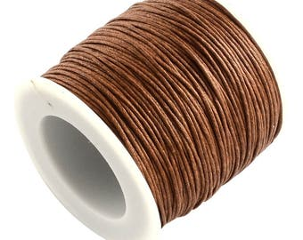 30ft Coffee Brown Wax Cotton Cord Bracelet Necklace Cord 1mm (No.290)
