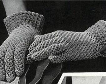 Vintage mesh sprot gloves pattern