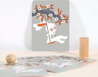 Card - Les Adorables Costumés  :  the rabbit