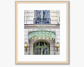 Paris Photograph -- Laduree Macarons -- Travel Photography -- 8 X 10 Inch Print