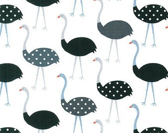 Fabric - Robert Kaufman - Urban zoologie ostrich cotton print - woven cotton
