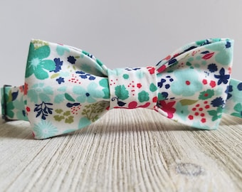 Adjustable Bowtie;Mint;Floral;Wedding Accessories;Tie;Menswear;Boy's Neckties;Ring bearer;Groomsmen; Easter;Baby;Spring; Accessories; Bow