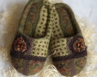 felted slippers autumn