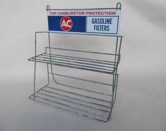 Vintage Garage / Gas Station /  Service Station / Shop Product Display Rack; AC Gasoline Filters