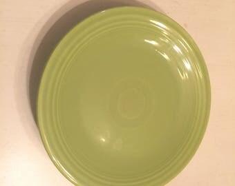 Vintage Fiestaware Chartreuse Bread Plate Fiesta Ware Dish Homer Laughlin Ohio Midcentury Pottery