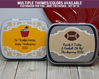 Thanksgiving Party - Thanksgiving Party Favors - Thanksgiving Party Ideas - Thanksgiving Party Supplies - Mint Tins - Set of 10