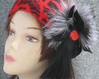 Red Headband Accessories Womens Accessories Headbands Women's Headbands Fall Fashion Winter Accessories  Gift For Her Headbands  For Women