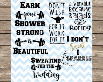 Workout svg, Workout, Fitness SVG, Workout SVG Pack, Exercise svg, Gym svg, svg exercise, svg fitness, svg, wedding svg, barbell svg