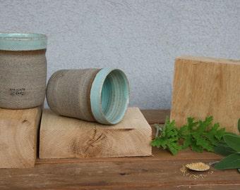 set of two coffee mugs ceramic coffee mug set turquoise mugs blue mug