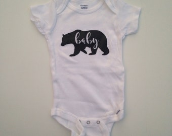 Baby Bear-Little Bear-bodysuit- baby custom- toddler custom