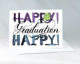 Hand Drawn Graduation Card, Graduation Card for Friend, Graduation Card, Handdrawn Graduation Card, Graduation Note, Handdrawn Card 1137