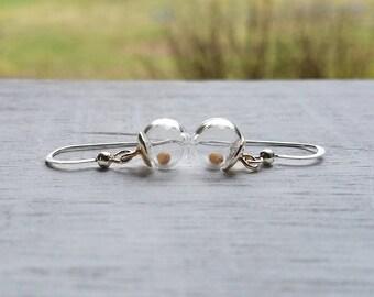 Mustard seed earrings, sterling silver earrings, faith jewelry, Christian jewelry,Mustard seed faith,  encouragement jewelry