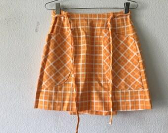 Vintage Gino Paoli 60s Orange Wrap Skirt
