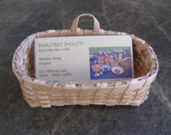 black ash business card basket
