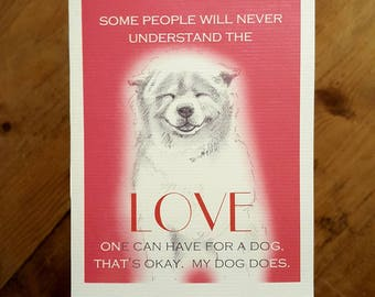 Love A Dog Card