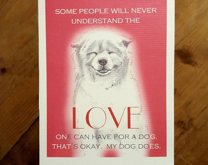 Love A Dog Card