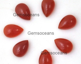 10 Pcs Lot Top Quality Red Onyx Pear Shape Loose Gemstone Cabochon